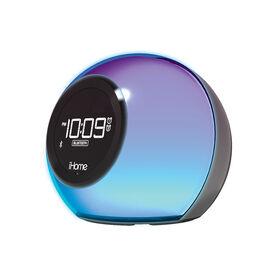 Réveil double à changement de couleur iHome -BluetoothRadio FM avec charge USB et haut-parleur