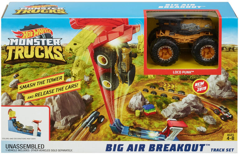 Hot Wheels Monster Trucks Big Air Breakout Playset - R Exclusive