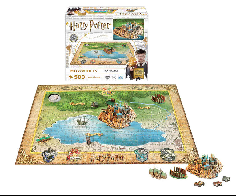 Mini Harry Potter 4D : Poudlard - Édition anglaise