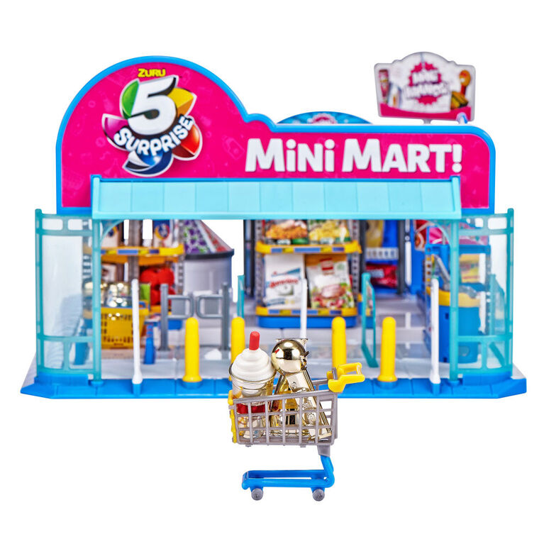 5 Surprise Mini Brands Electronic Mini Mart with 4 Mystery Mini Brands Playset