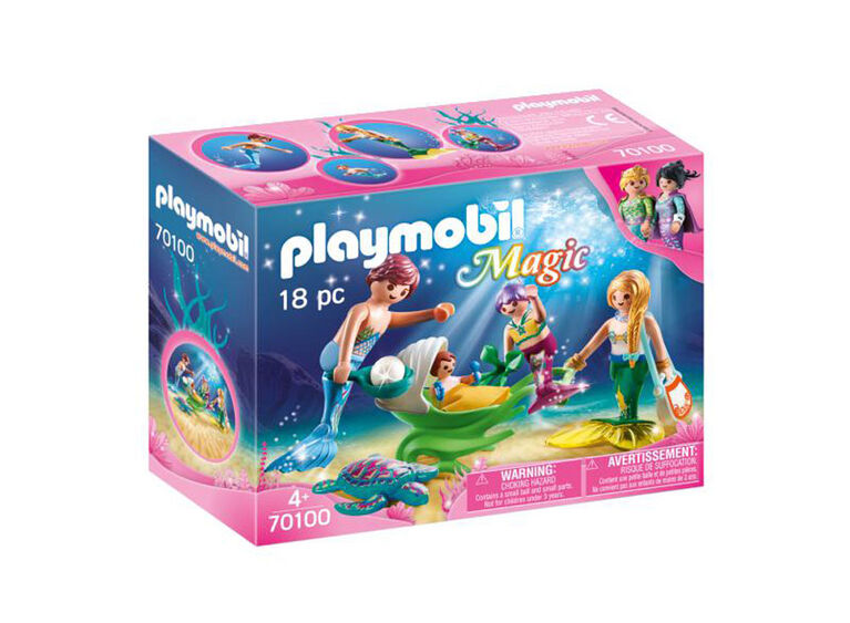 Playmobil  Family With Shell Stroller 70100