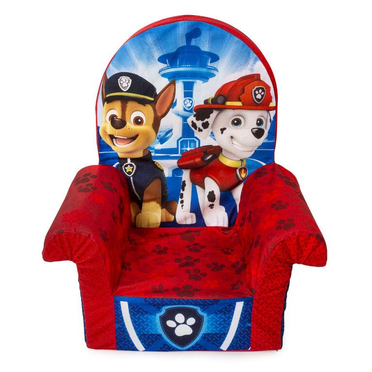 Mobilier Marshmallow - Fauteuil à dossier haut en mousse pour enfants - Fauteuil à dossier haut Paw Patrol
