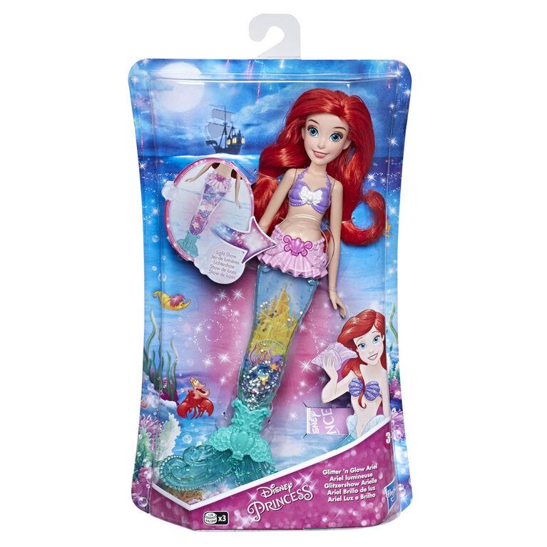 Disney Princess Glitter 'n Glow Ariel Doll