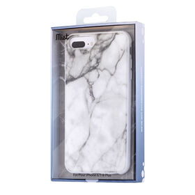 Blu Element Mist Case for iPhone 8 Plus/7 Plus/6S Plus/6 Plus White Marble (MWMI7P)