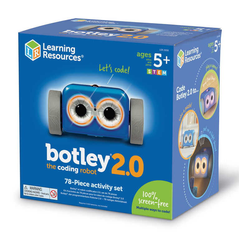 Ressources pédagogiques Botley 2.0 L'ensemble d'activités du robot de codage - Édition anglaise