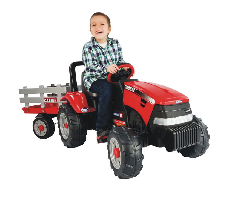 Peg Perego - Case IH Tractor with Trailer - Red