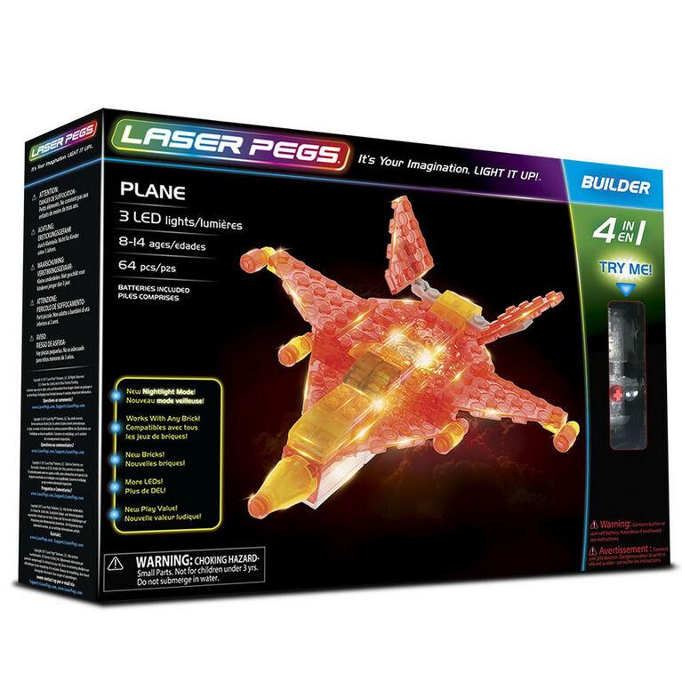 Laser Peg Plane 4-In-1 Building Set