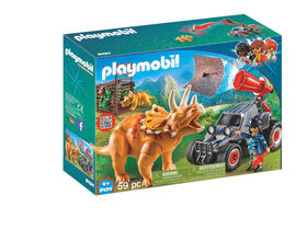 Playmobil - Enemy Quad with Triseratops