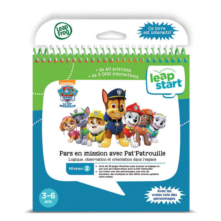 LeapFrog® LeapStart® Around Town with PAW Patrol - Activity Book - French Edition