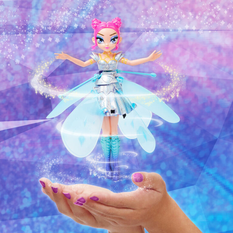 Hatchimals Pixies, Crystal Flyers Starlight Idol Magical Flying Pixie, Jouet avec lumières