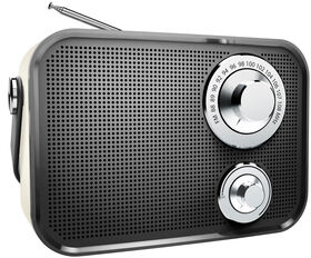 Polaroid Retro Wireless FM Radio And Bluetooth Speaker - Black