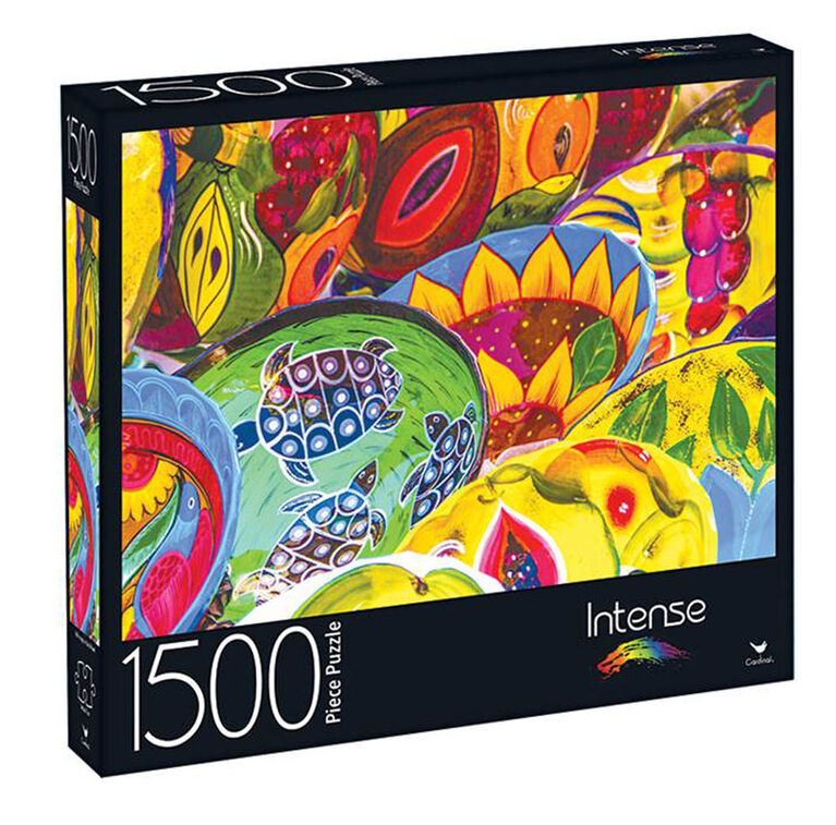 1500-Piece Intense Color Jigsaw Puzzle - Colorful Collage