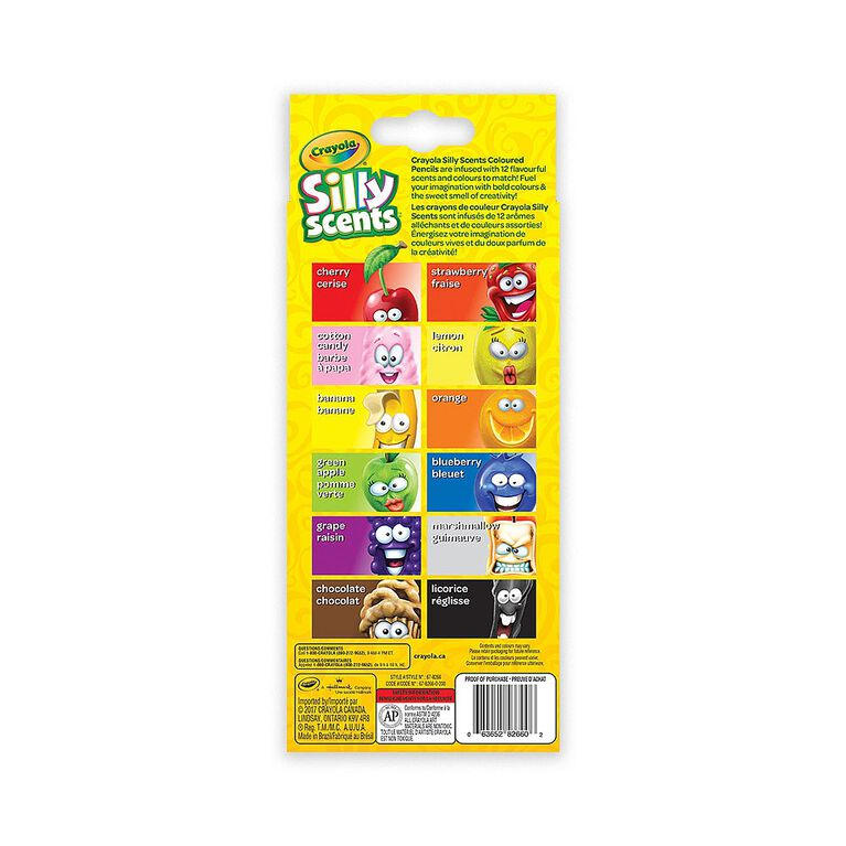 Crayola Silly Scents Coloured Pencils, 12 ct