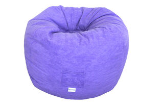 Boscoman - Faux Suede Bean Bag - Purple