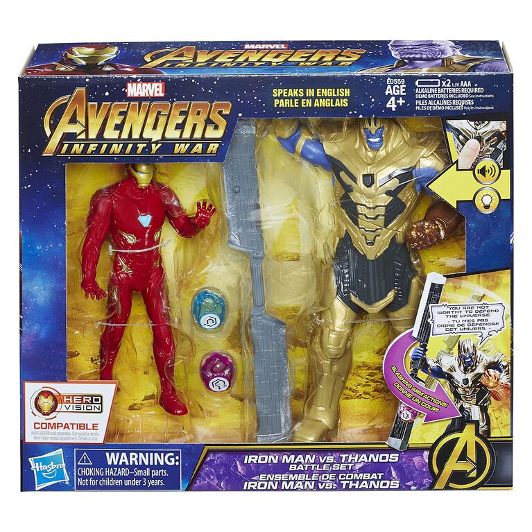 Marvel Avengers: Infinity War Iron Man vs. Thanos Battle Set  - English Edition