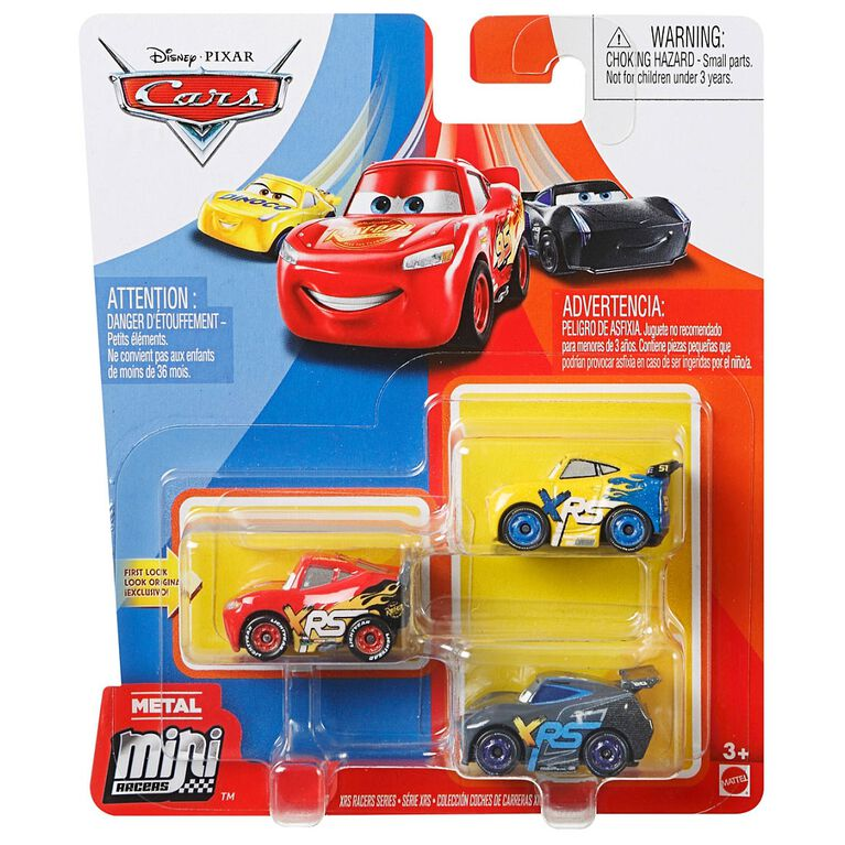 Disney/Pixar Cars Mini Racers XRS Series 3-Pack