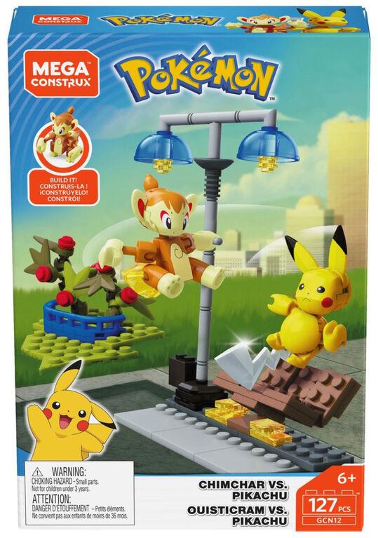 Mega Construx Pokémon Chimchar vs Pikachu