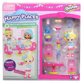 Shopkins Happy Places S3 Welcome Pack - PRETTY KITTY DINNING ROOM