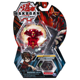 Bakugan, Pyrus Vicerox, 2-inch Tall Collectible Action Figure and Trading Card