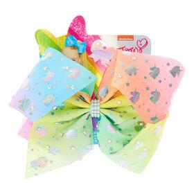 Jojo Siwa Bow - Pastel Colours With Unicorn Print - Colours may vary