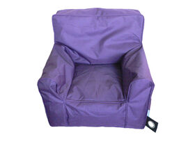 Boscoman - Cozy Youth Lounger Chair Bean Bag - Purple