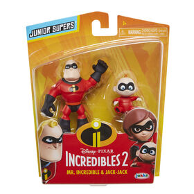 """Incredibles 2 3"""" Precool 2-Pack Figures Assortment Mr Incredible and Jack-Jack"""