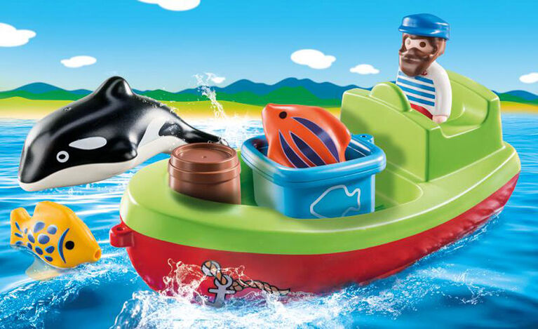 Playmobil 1.2.3. Fisherman With Boat 70183