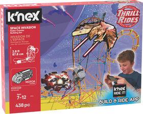 K'Nex Space Invasion Roller Coaster Building Set