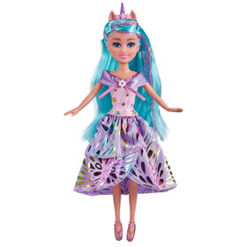 Sparkle Girlz Deluxe Unicorn Princess Doll Set