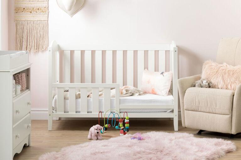 Angel Lit de bébé avec barrière de transition- Blanc solide