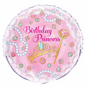 "Pink Princess Round Foil 18"" - English Edition"