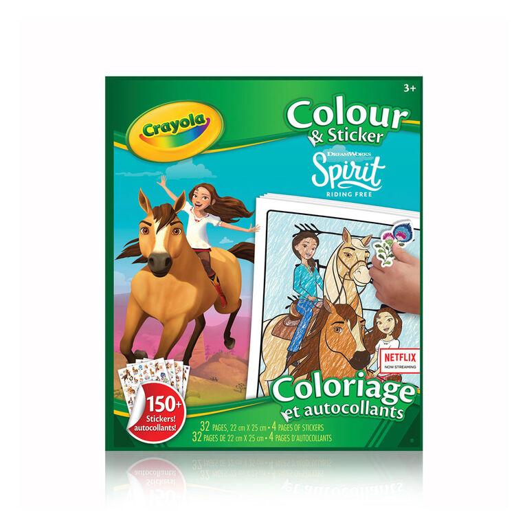 Crayola Colour & Sticker Book, Spirit