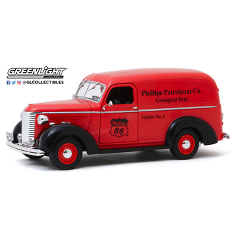 1:24 Running on Empty - 1939 Chevrolet Panel Truck - Phillips 66 Phillips Petroleum Co. Geological Dept. - English Edition
