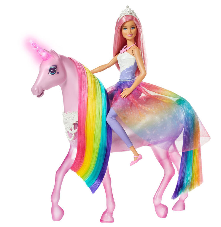 Barbie Dreamtopia Magical Lights Unicorn and Doll - R Exclusive
