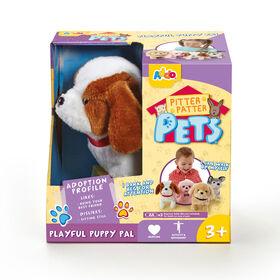 Assortiment de chiots Pitter Patter Pets Playful Puppy Pal - marron et blanc. - Notre exclusivité