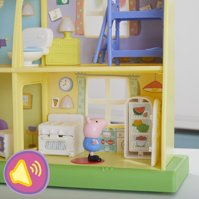 Peppa Pig Peppa's Adventures Peppa's Playtime to Bedtime House Toy