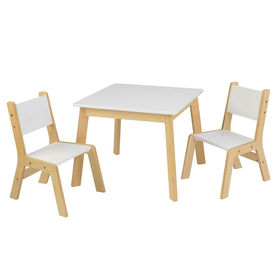 KidKraft - Ensemble table moderne + 2 chaises - Blanc