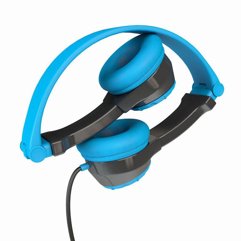 JLab Audio JBuddies Écouteurs Pliants Bleu/Gris