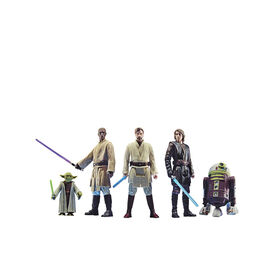 Star Wars Celebrate the Saga, Jedi Order, figurines articulées de 9,5 cm, 5 figurines à collectionner