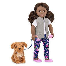 Our Generation, Malia, 18-inch Doll & Pet Set