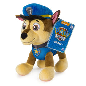 """PAW Patrol - 8"""" Chase Plush Toy, Standing Plush with Stitched Detailing"""