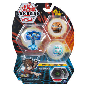 Bakugan, Starter Pack 3 personnages, Hydranoid, Créatures transformables à collectionner