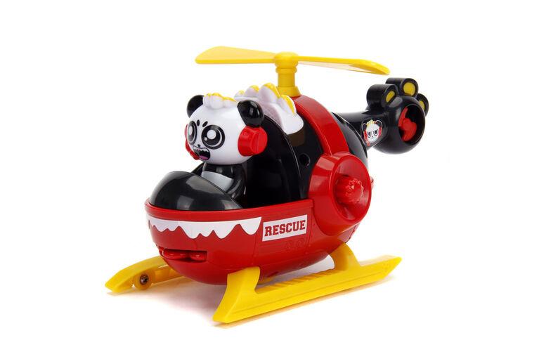 Hélicoptère de sauvetage 15cm avec Combo Panda