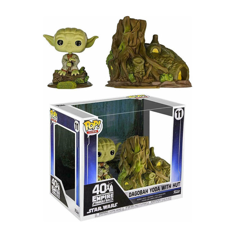 Figurine en Vinyle Dagobah Yoda with Hut par Funko POP! Star Wars