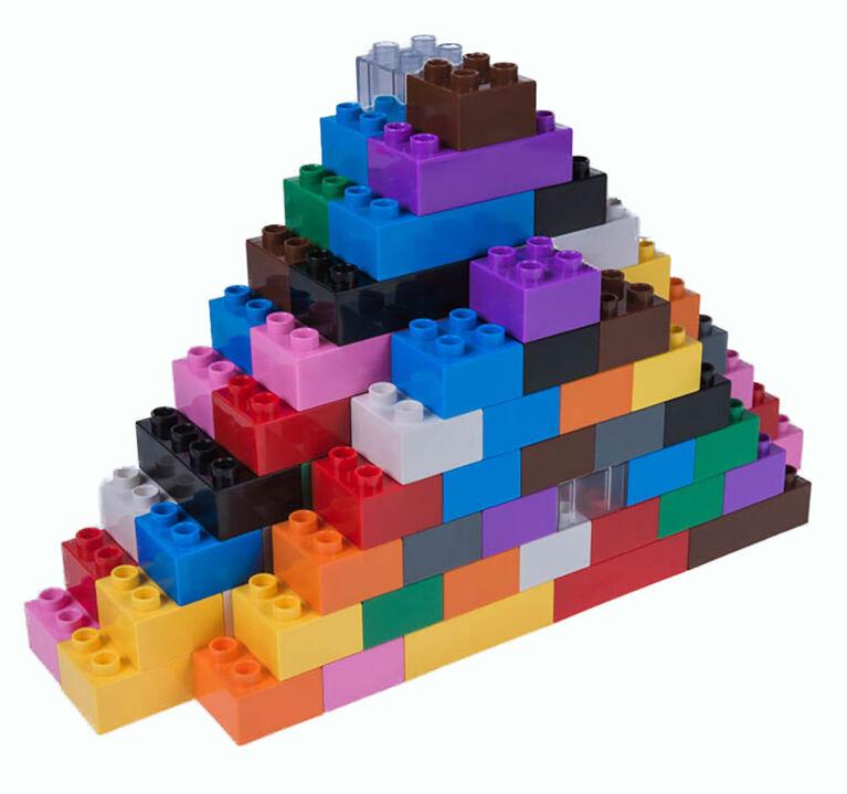Strictly Briks - Big Briks - 108 Pieces - 12 Rainbow Colours