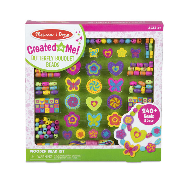 Melissa & Doug Created by Me! Butterfly Bouquet Wooden Bead Kit