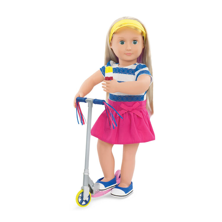 Our Generation, Cute To Scoot, Scooter and Outfit Set for 18-inch Dolls