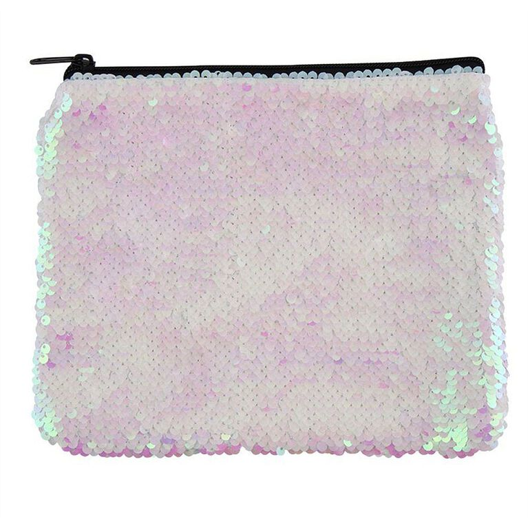 Magic Sequin Pouch - Pink Iridescent