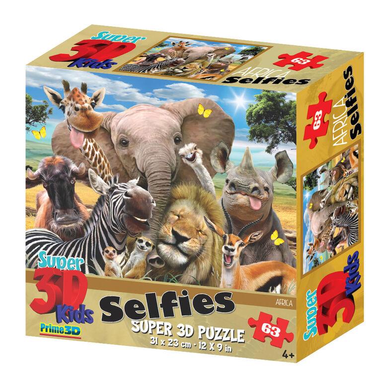 Howard Robinson Africa Selfie63 Piece Super 3D Puzzle