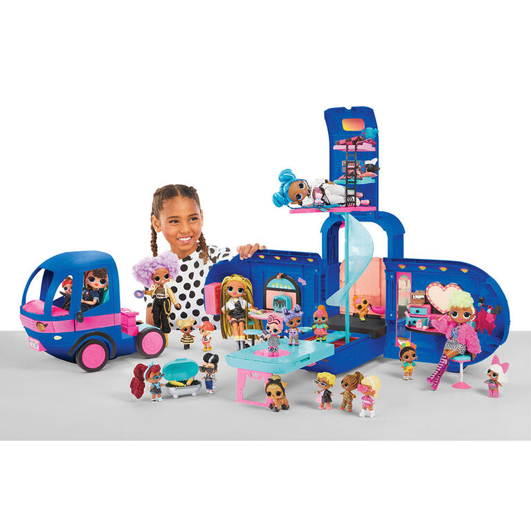 L.O.L. Surprise! O.M.G. 4-in-1 Glamper Fashion Camper with 55+ Surprises (Electric Blue)